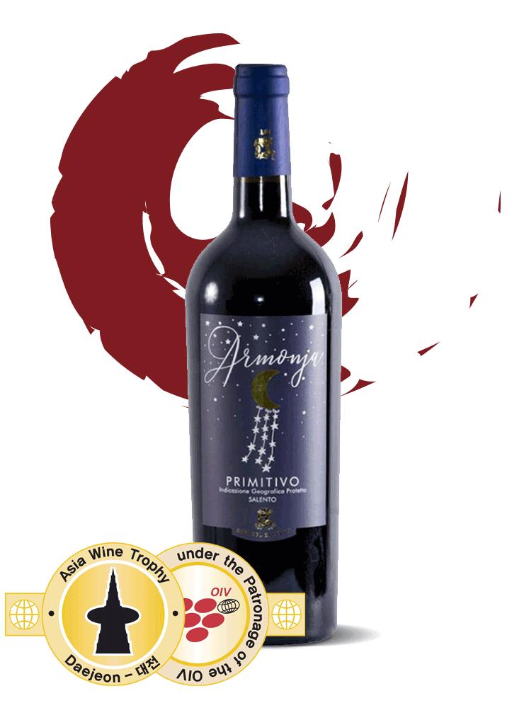 vino rosso armonja otri del salento premio Asia Wine Trophy 2017